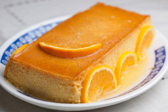 Receta pudin naranja