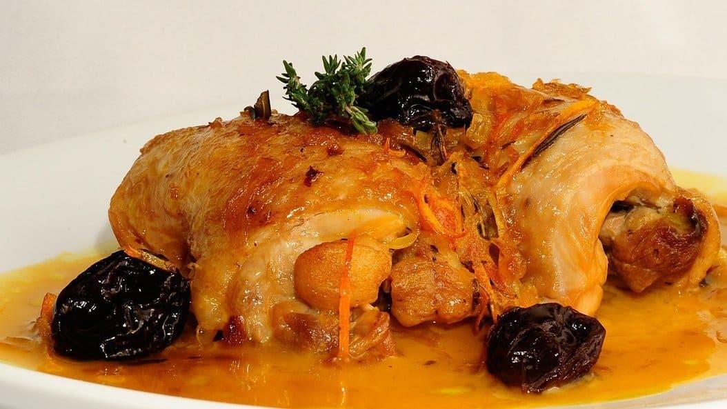 Receta pollo naranja horno