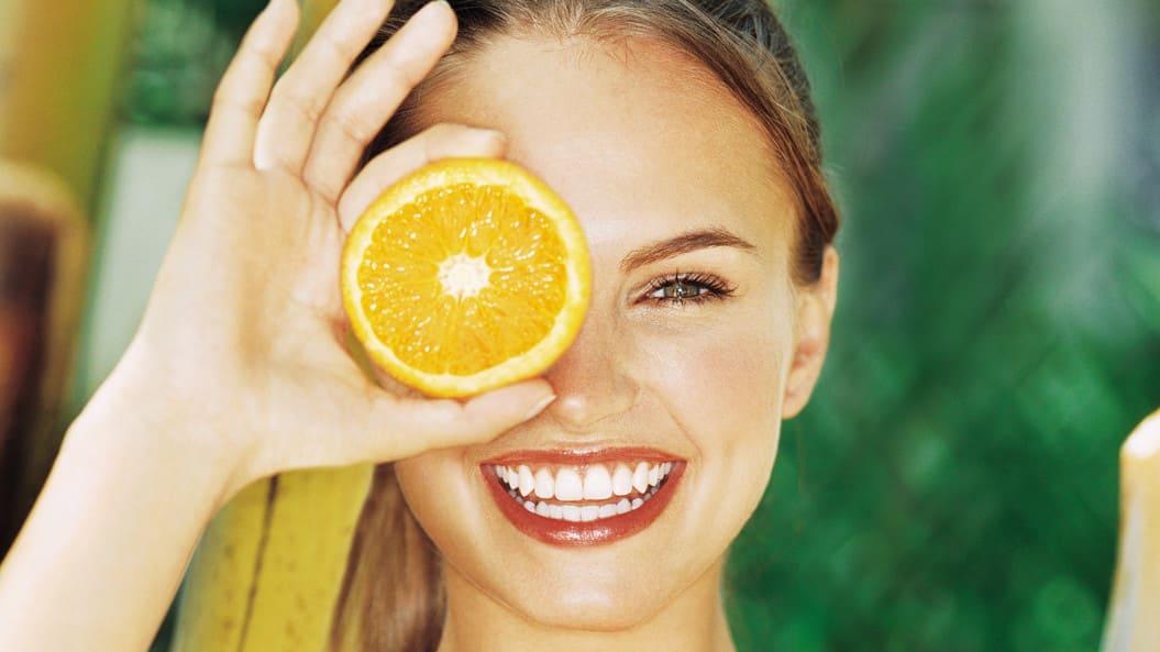 mascarilla con naranjas
